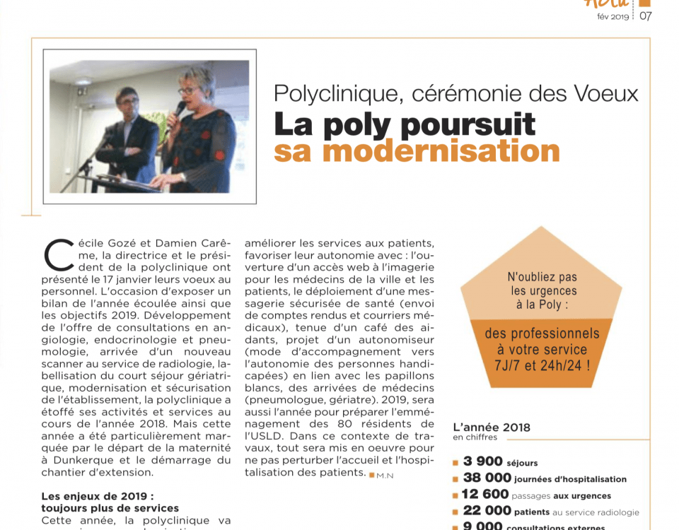 La polyclinique poursuit sa modernisation - Dunkerque